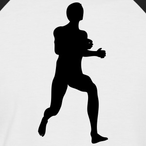 Man body Silhouette vector design - Men's Baseball T-Shirt