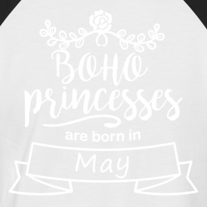Boho Princesses are born in May - Men's Baseball T-Shirt