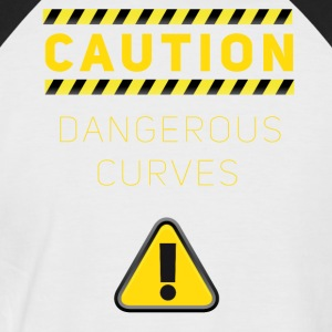 humour dangereuse prudence courbes dangereuses baustelle - T-shirt baseball manches courtes Homme