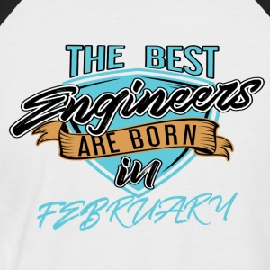 Best Engineers Born In FEBRUARY - Men's Baseball T-Shirt