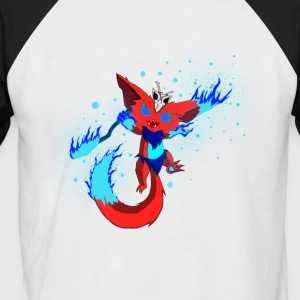 Mysterious fire monster - Men's Baseball T-Shirt
