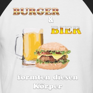 Burgers and beer shaped this body! - Men's Baseball T-Shirt