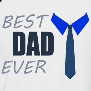 BEST DAD EVER - Männer Baseball-T-Shirt