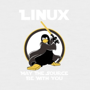 may_the_linux_source - Kortermet baseball skjorte for menn