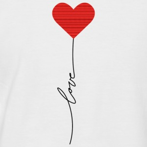 Love balloon - Männer Baseball-T-Shirt