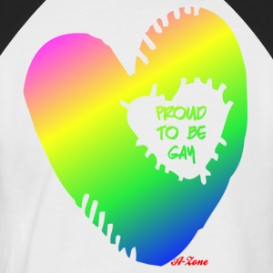 Gay Heart - Men's Baseball T-Shirt