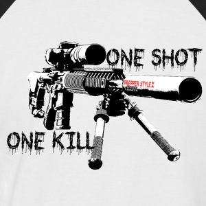 sniper ONe KILL ONe Shot - Männer Baseball-T-Shirt
