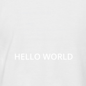 Hello World - Männer Baseball-T-Shirt