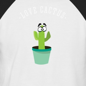 cactus cactus plant green eyes comic love naughty - Men's Baseball T-Shirt