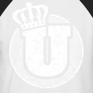 Stylish letter U with crown - Men's Baseball T-Shirt