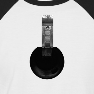 Cylindrical Air Raid Shelter Collage - Men's Baseball T-Shirt