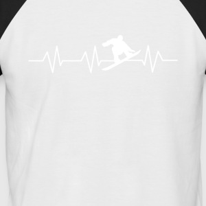 Heartbeat Snowboard - T-shirt baseball manches courtes Homme