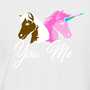 You me unicorn - Men's Baseball T-Shirt