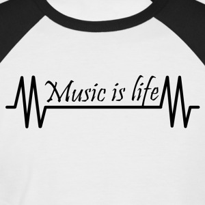 Music is life - Men's Baseball T-Shirt
