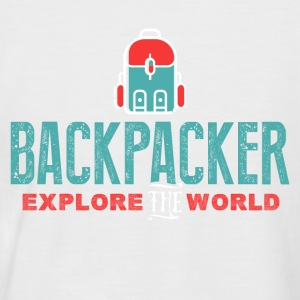 Backpacker Explora Mundo - Camiseta béisbol manga corta hombre
