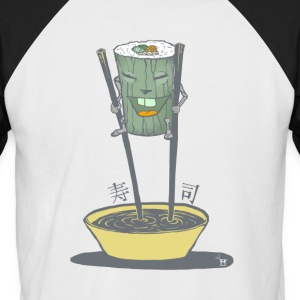 Walkin 'Sushi - Men's Baseball T-Shirt
