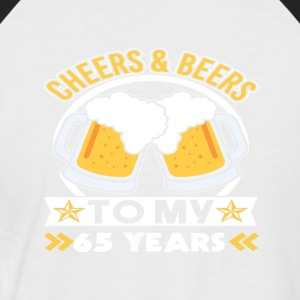 65th birthday beers - Men's Baseball T-Shirt