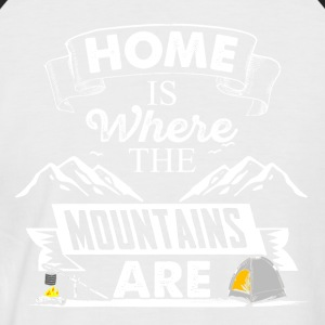 Mountains my home - Men's Baseball T-Shirt