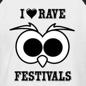 I Love Rave Festivals - Men's Baseball T-Shirt