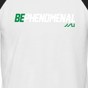 BePhenomenal motivational fitness T-Shirt - Men's Baseball T-Shirt