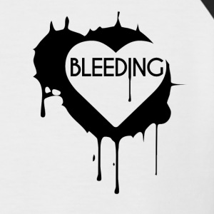 Bleeding Heart Design - Men's Baseball T-Shirt