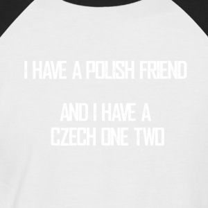czech_one_two - Männer Baseball-T-Shirt