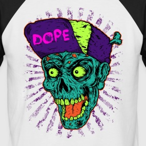Music in pop style Dope Monster Skull T-Shirt - Men's Baseball T-Shirt