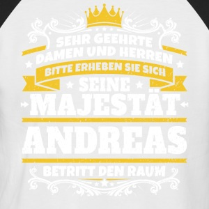 His Majesty Andreas - Men's Baseball T-Shirt