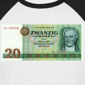 20 mark bill of DDR - Mannen baseballshirt korte mouw