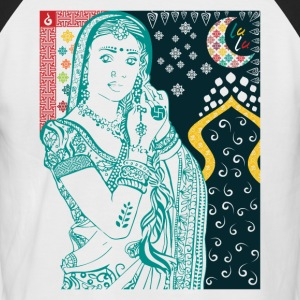 Hindu Woman - Kortermet baseball skjorte for menn