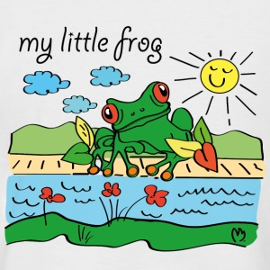 my little frog - Männer Baseball-T-Shirt