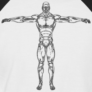 Anatomie - T-shirt baseball manches courtes Homme
