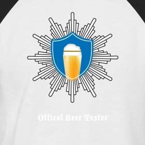 Beer wheat coat of arms police octoberfest beer test - Men's Baseball T-Shirt