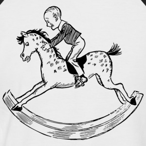 rocking horse - Men's Baseball T-Shirt