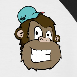 Cartoon Monkey - Men's Baseball T-Shirt