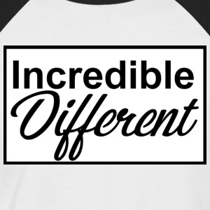 icredibledifferent_logo - T-shirt baseball manches courtes Homme