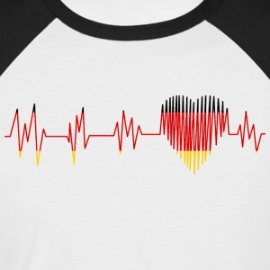GERMANY GERMANY PULS HEART - Men's Baseball T-Shirt