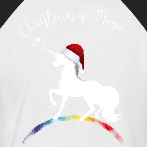 christmas_magic-unicorn gir Unicorn XMLs Noël - T-shirt baseball manches courtes Homme