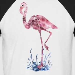 flamingo rosa krystaller Press - Kortermet baseball skjorte for menn