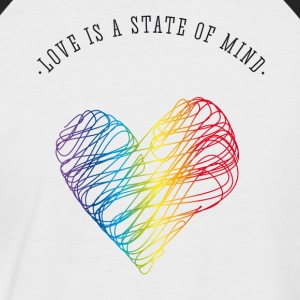 love love heart valentine gay pride Statement b - Men's Baseball T-Shirt