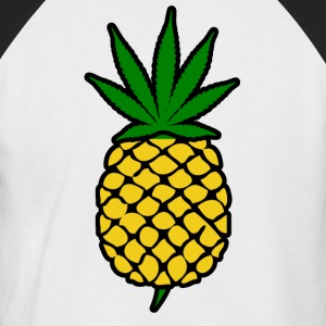 Ananas Express Weed Leaf Design - Kortermet baseball skjorte for menn