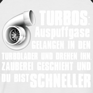 Turbolader Shirt - Männer Baseball-T-Shirt