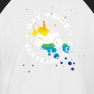 gay Love Unity Respekt Pride happy Regenbogen bike - Männer Baseball-T-Shirt