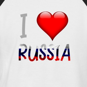 I love Russia Russian Russian Shirt design - Men's Baseball T-Shirt