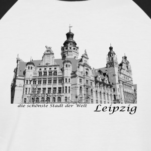 Leipzig City Hall med signatur - Kortermet baseball skjorte for menn