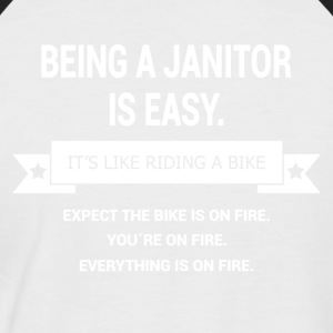 BEING A JANITOR - Men's Baseball T-Shirt