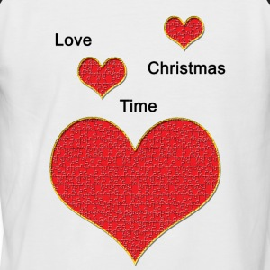 Love_Christmas - Männer Baseball-T-Shirt