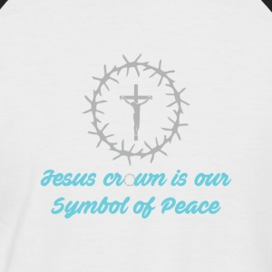 Sympol of Peace - Christian - Men's Baseball T-Shirt