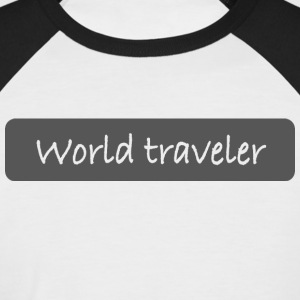 World traveler - Men's Baseball T-Shirt