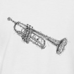 Trumpet Scribble - Men's Baseball T-Shirt